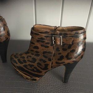 Madden girl high heel leopard boots